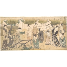 Hosoda Eishi: At the Tsutsui Well - Metropolitan Museum of Art