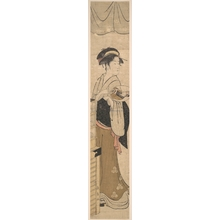 Eishosai Choki: Young Lady with Fan - Metropolitan Museum of Art