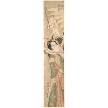 晩器春政: Girl and Lover in Snow - メトロポリタン美術館