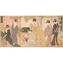 Utagawa Toyokuni I: Women and an Infant Boy in a Public Bath House - Metropolitan Museum of Art