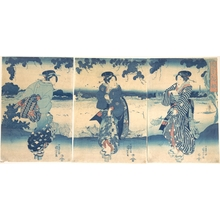 Utagawa Kuniyoshi: Women Near a River - Metropolitan Museum of Art