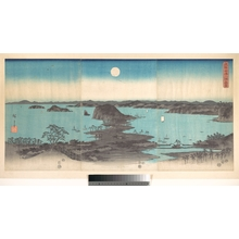 歌川広重: Panorama of the Eight Views of Kanasawa under a Full Moon - メトロポリタン美術館