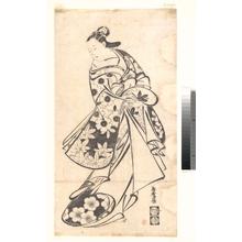 Torii Kiyomasu I: Courtesan - Metropolitan Museum of Art