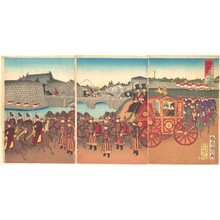 歌川国利: View of the Imperial Carriage - メトロポリタン美術館