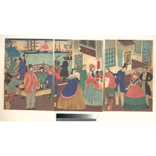 Utagawa Yoshitora: View of Eating and Drinking by People of Five Countries - Metropolitan Museum of Art
