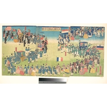Utagawa Sadahide: Procession of People from Five Countries: Holland, Russia, France, England and America - Metropolitan Museum of Art