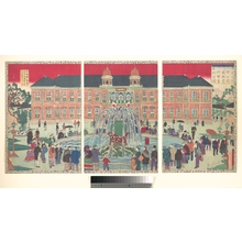 Utagawa Hiroshige III: Hall of Industrial Arts in Ueno Park - Metropolitan Museum of Art