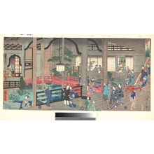 Utagawa Hiroshige II: The Interior of the Gankiro Tea House in Yokohama - Metropolitan Museum of Art