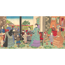 井上安治: An Aristocratic Family Enjoying a Quiet Life Together - メトロポリタン美術館