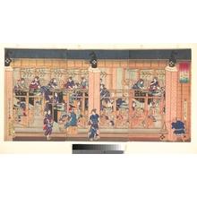 Utagawa Yoshitora: Imported Silk Spinning Machine at Tsukiji in Tokyo - Metropolitan Museum of Art