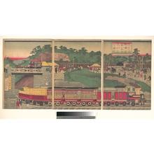 Utagawa Kuniteru: Tokyo /Takanawa Steam Railway - Metropolitan Museum of Art