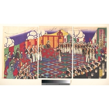 Utagawa Kunitoshi: View of the Issuance of the Constitution - Metropolitan Museum of Art