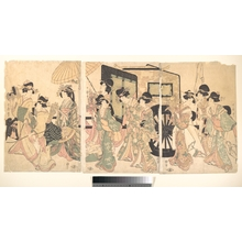 Utamaro II: Ladies Surrounding a Cart - メトロポリタン美術館
