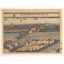 歌川貞秀: Landscape View at Yokohama (Yokohama fûkei) - メトロポリタン美術館