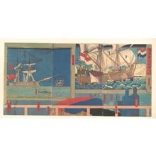 Utagawa Sadahide: Curio Shop in Yokohama - Metropolitan Museum of Art