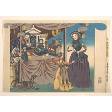 Utagawa Sadahide: Color Print of a Copperplate Picture of a Toy Shop - Metropolitan Museum of Art