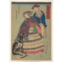 Utagawa Sadahide: American Woman Playing a Concertina, from the series Foreigners from Life - Metropolitan Museum of Art