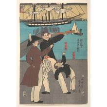 歌川貞秀: Russians Enjoying a Holiday in Yokohama - メトロポリタン美術館
