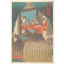 Utagawa Sadahide: French Woman and Girl, from the series Foreign Merchants in Yokohama - Metropolitan Museum of Art