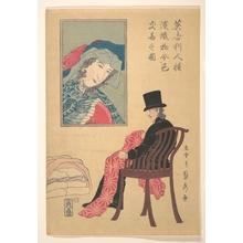 歌川貞秀: Englishman Sorting Fabrics - メトロポリタン美術館