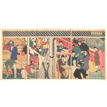 Utagawa Sadahide: Foreign Business Shop in Yokohama - Metropolitan Museum of Art