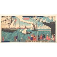 Utagawa Sadahide: Vessels Departing from California, America - Metropolitan Museum of Art