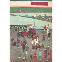 Utagawa Sadahide: The Steel Bridge at Yokohama - Metropolitan Museum of Art