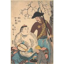 二歌川広重: Russians and a Chinese Inscribing a Fan - メトロポリタン美術館