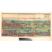 Utagawa Hiroshige III: People Wandering in the Garden of a Hotel - Metropolitan Museum of Art