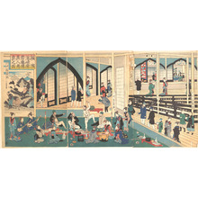 Utagawa Yoshikazu: Foreigners Enjoying a Party at the Gankirô Tea House - Metropolitan Museum of Art