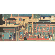 Utagawa Yoshikazu: Interior of an American Steamship - Metropolitan Museum of Art