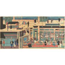 歌川芳員: Interior of an American Steamship - メトロポリタン美術館
