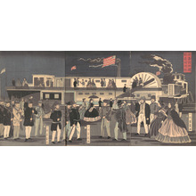 Utagawa Yoshikazu: American Steamship - Metropolitan Museum of Art