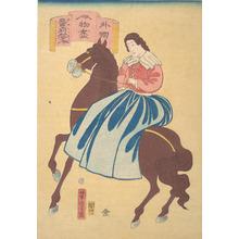歌川芳虎: American Horsewoman - メトロポリタン美術館
