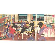Utagawa Yoshitora: Foreigners Enjoying a Party - Metropolitan Museum of Art
