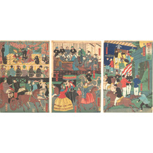 Utagawa Yoshitora: A View of the Amusements of the Foreigners in Yokohama, Bushu - Metropolitan Museum of Art