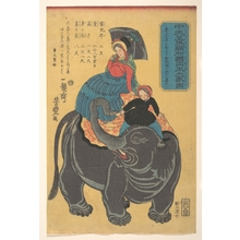 Utagawa Yoshitoyo: Picture of an Elephant Born in Maruka in Central India - Metropolitan Museum of Art