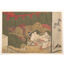 Suzuki Harunobu: Lovers Beneath a Mosquito Net - Metropolitan Museum of Art