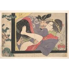 Rekisentei Eiri: Dutchman and Maruyama Courtesan - メトロポリタン美術館