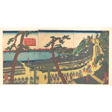 歌川貞秀: Daimyo's Processions Passing along the Tôkaidô - メトロポリタン美術館