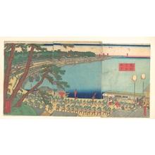 Utagawa Sadahide: Daimyo's Processions Passing along the Tôkaidô - Metropolitan Museum of Art