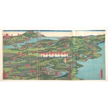 歌川貞秀: Panoramic Landscape - メトロポリタン美術館