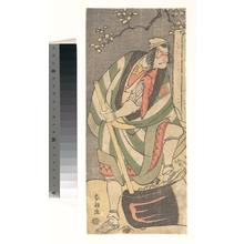 葛飾北斎: Ichikawa Ebizô (Danjûrô V) in the Role of Mongaku Shonin Disguised as Yamagatsu from the Play Kin no Menuki Minamotoya Kakutsuba - メトロポリタン美術館