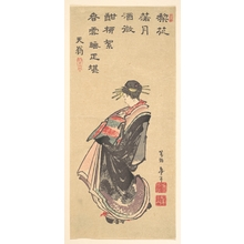 Katsushika Hokusai: A Courtesan on Parade, Dressed in Many Robes - Metropolitan Museum of Art