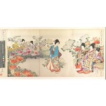 豊原周延: Chiyoda Castle (Album of Women) - メトロポリタン美術館