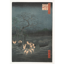 Utagawa Hiroshige: New Year's Eve Foxfires at the Changing Tree, Ôji - Metropolitan Museum of Art