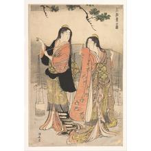 鳥居清長: The Brine Maidens of Suma (Shiokumi, Suma) - メトロポリタン美術館