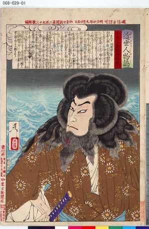 008-029-01「近世人物誌」 「やまと新聞附録 第十二」「五代目 坂東彦三郎」・・『』