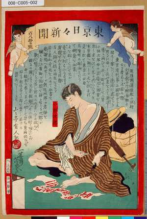008-C005-002「東京日々新聞」「百八拾五號」「小林次郎」 ・・-『』
