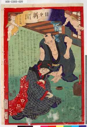 Ochiai Yoshiiku: 「東京日々新聞」 「千二十七号」 - Tokyo Metro Library